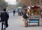 A Street Bazaar in Kabul